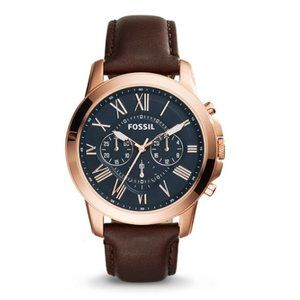 FOSSIL FS5068 Grant Chronograph Mens Leather Watch